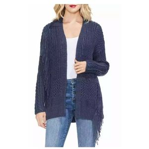 Vince Camuto Rib Cable Knit Open Front Cardigan